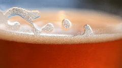 Beer foam Stock Footage