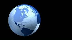 blue globe on black background - stock footage