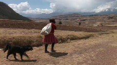 Woman in Peru Stock Footage