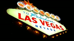 The Historic Las Vegas Sign - stock footage
