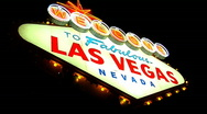 Stock Video Footage of Las Vegas Sign 2 - 1920x1080 HD