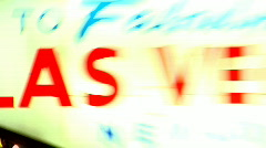 High Energy Snap Zoom on the Las Vegas Sign Stock Footage