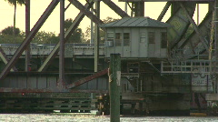 Railroad Drawbridge Stock Footage