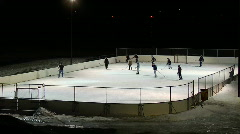 Timelaps Night Time Hockey Game - stock footage