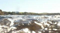 Seaside Rock Pool, Semi-Underwater, Shore Stock Footage