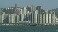 Stock Video Footage of View Of Hong Kong Island Highway