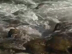 Rapids over rocks-H.264  - stock footage
