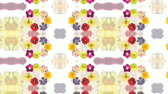 Motion Decorative Floral Background Stock Footage