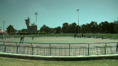 Roller blading park Stock Footage