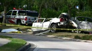 Fatal auto accident (vid 2) Stock Footage