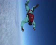 Skydiver in free-fall from 4000 meters  Stock Footage