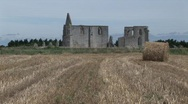 Church ruin France 01 Stock Footage