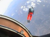 One minute of free fall in sitting position Stock Footage