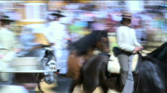Jerez Horse Fair Spain Stock Footage