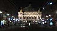 Opera Garnier night Stock Footage