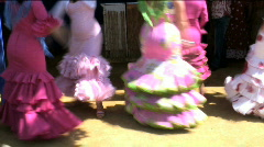 Flamenco dancers in Spain Stock Footage