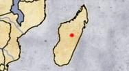 Adventurer Archeologist Map 05 Africa Loop Stock Footage