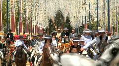 Jerez Horse Fair Spain Stock Footage