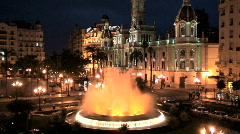 Plaza del Aguntamiento Spain Stock Footage