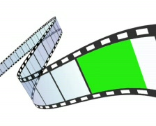 film strip in out greenscreen - stock footage
