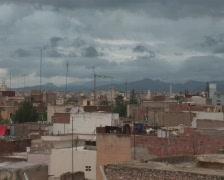 Maroc panorama Oujda cloudy Stock Footage
