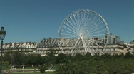 Ferris wheel in Paris Stock Footage