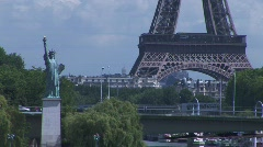 Liberty eiffel 02 - stock footage