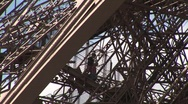 Eiffel tower Stairway Stock Footage