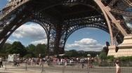 Eiffel Tower Tilt Stock Footage