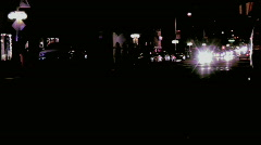 Typical night time traffic in suburbia - stock footage
