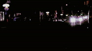 Typical night time traffic in suburbia Stock Footage