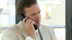Powerful businessman on a  phone Stock Footage
