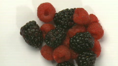 Rasberries and blueberries 3 Stock Footage