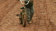 Kid Bicycle mud Stock Footage