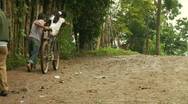 Children bicycle Central America Stock Footage