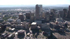 Downtown Denver Aerial - stock footage