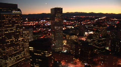 Denver Aerial 14 Stock Footage