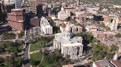 Denver Capitol Aerial - stock footage