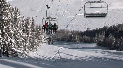 People on Ski Lift Stock Footage