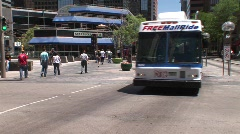 16th Street Mall Denver Colorado Stock Footage