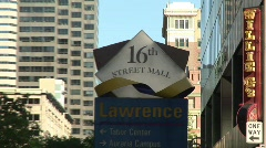 16th Street Mall Denver Colorado -17 Stock Footage
