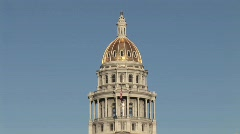 State Capitol Denver Colorado Stock Footage