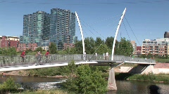 Confluence Park, Denver Stock Footage