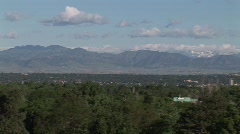 Pan Shot of Denver, Colorado Stock Footage