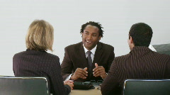 Businessman talking with his associates - stock footage