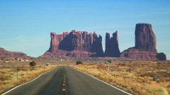 Monument Valley Road Arizona Stock Footage