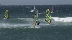 Maui windsurf 1006 4 Stock Footage