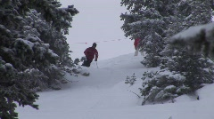Ski powder 108 5 Stock Footage