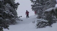 Stock Video Footage of ski powder 108 5
