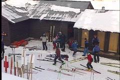Skipatrol skier 1208 1 Stock Footage